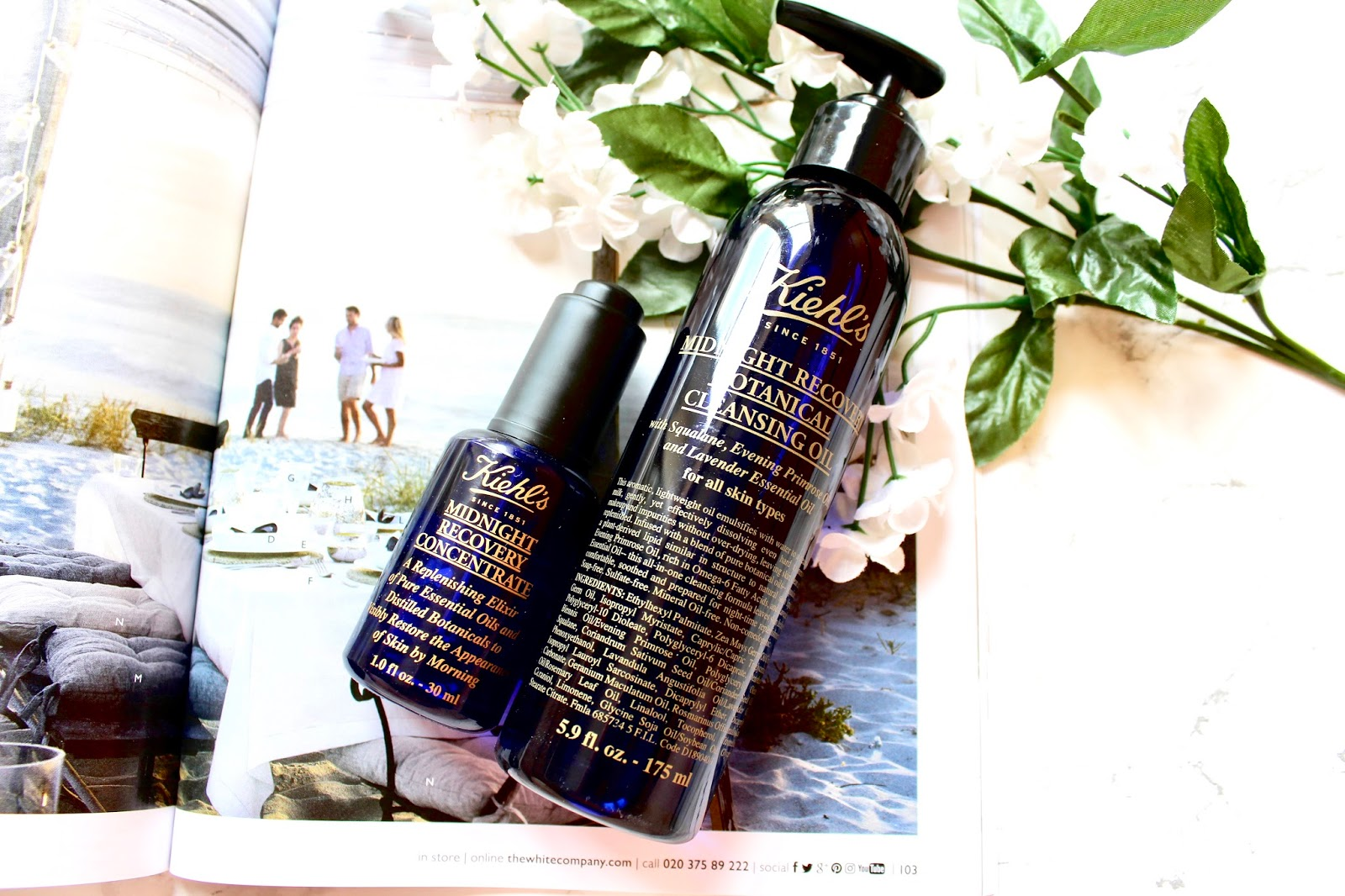 Kiehl's Midnight Recovery Oil and Concentrate