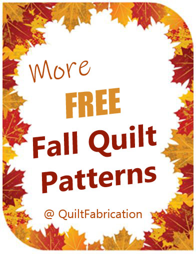 FREE QUILT PATTERNS-FALL QUILT PATTERNS-LEAF PATTERNS-FALL PATTERNS