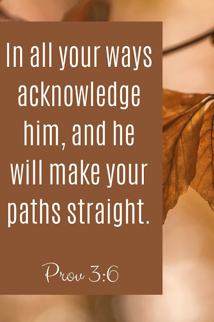 Bible Verse | In All Your Ways Acknowledge Him And He Will Make Your Paths Straight