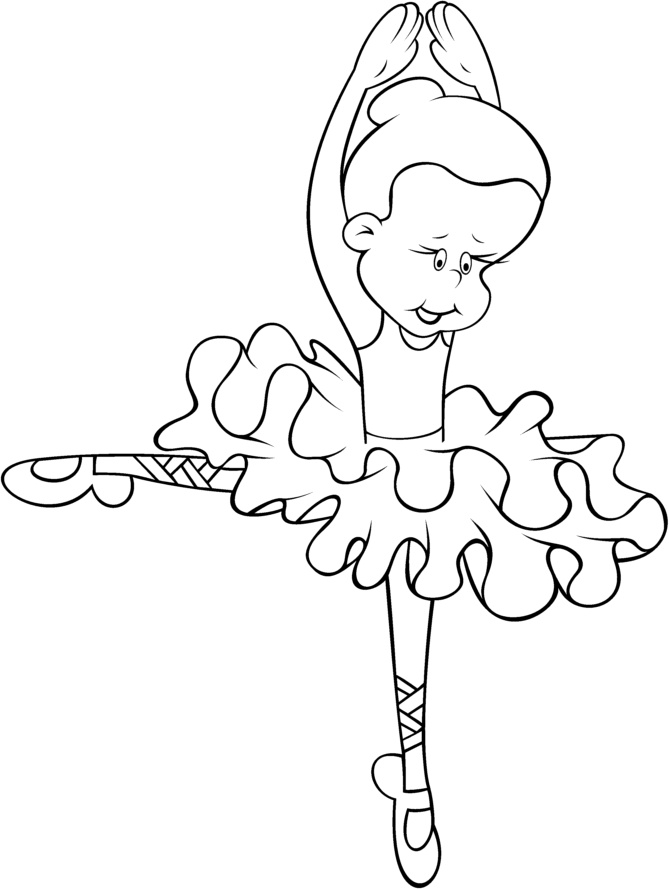 Desenho De Bailarina De Bale Colorir E Pintar Desenhos Para
