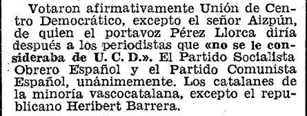 La Constitución fue aprobada por franquistas, por eso el PSOE y el PCE votaron a favor de ella.