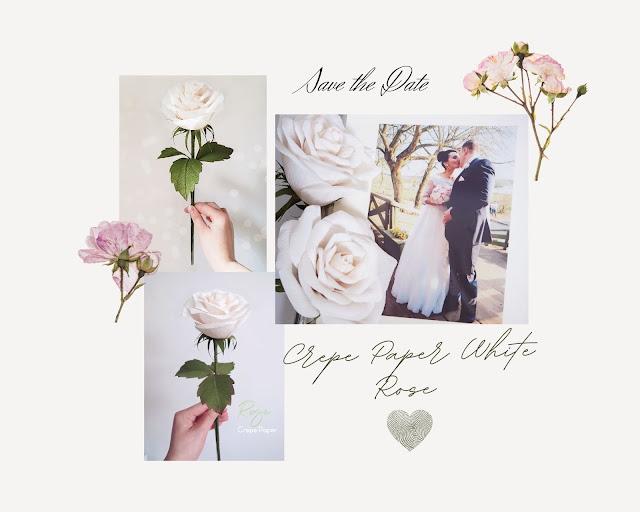 Garden's Heart - Crepe Paper White Rose