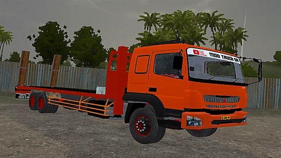 mod bussid truck fuso fj selfloader tanpa muatan
