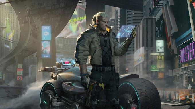Papel de Parede Witcher Cyberpunk 2077 4k