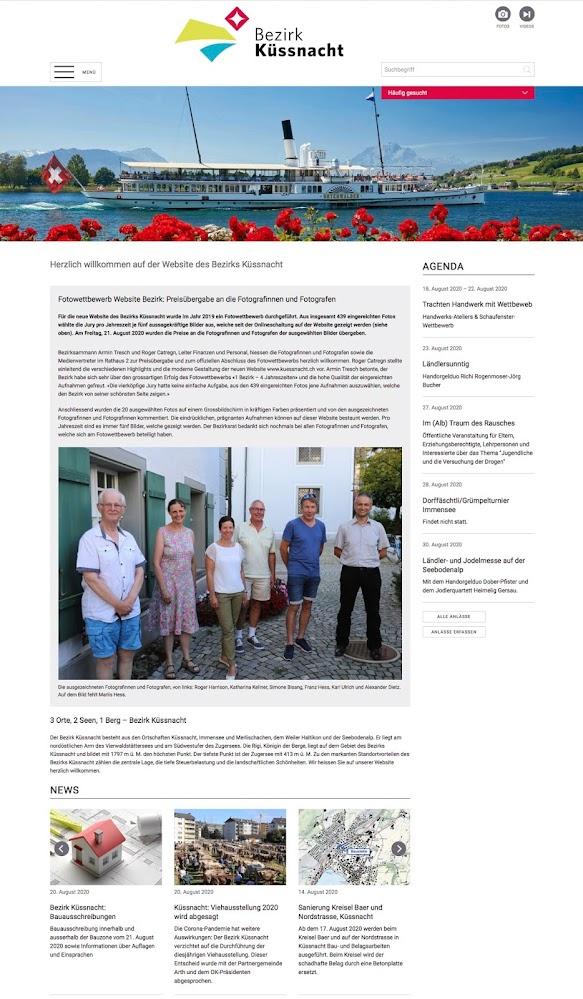 Bericht zur Vernissage auf der Website des Bezirks Küssnacht