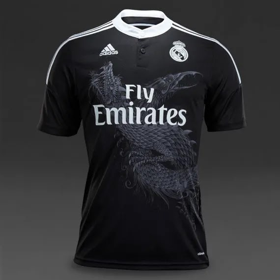 Real Madrid's 2020/21 third kit leaked with a Black printed pattern
