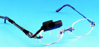 Figure 4: Eyeglass display with holographic element