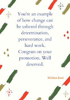 wishes for promotion in job