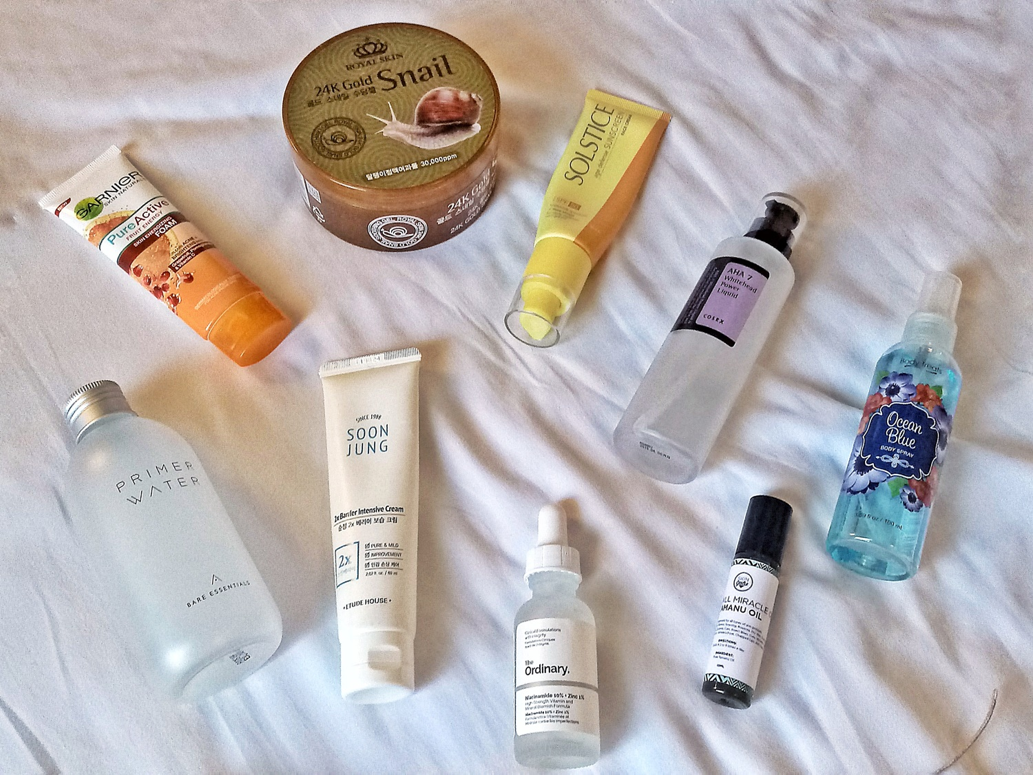 Skincare Products I use while traveling