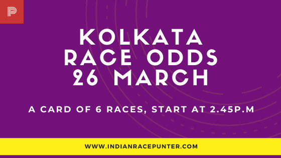 Kolkata Race Odds 26 March