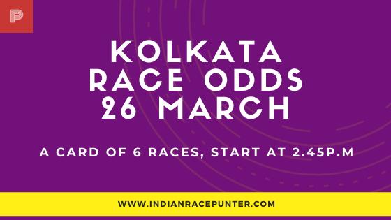 Kolkata Race Odds 26 March