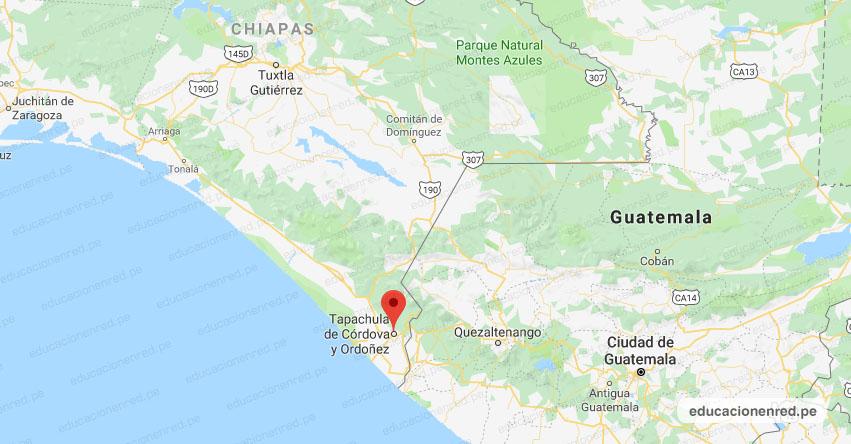 Temblor en México de Magnitud 4.3 (Hoy Miércoles 22 Abril 2020) Sismo - Epicentro - Tapachula de Córdova y Ordoñez - Chiapas - CHIS. - SSN - www.ssn.unam.mx
