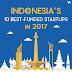 10 Startup Indonesia Dengan Pendanaan Terbaik Tahun 2017