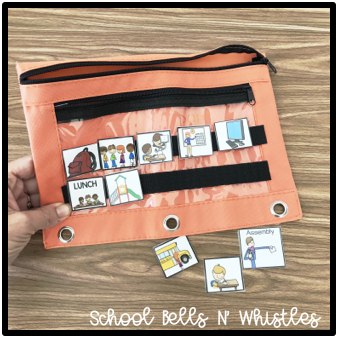 PORTABLE VISUAL SCHEDULE FOR SPECIAL EDUCATION