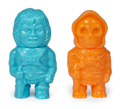 Five Points Festival 2019 Exclusive Masters of the Universe He-Man & Skeletor Orange & Turquoise Micro Vinyl Figures by Super7