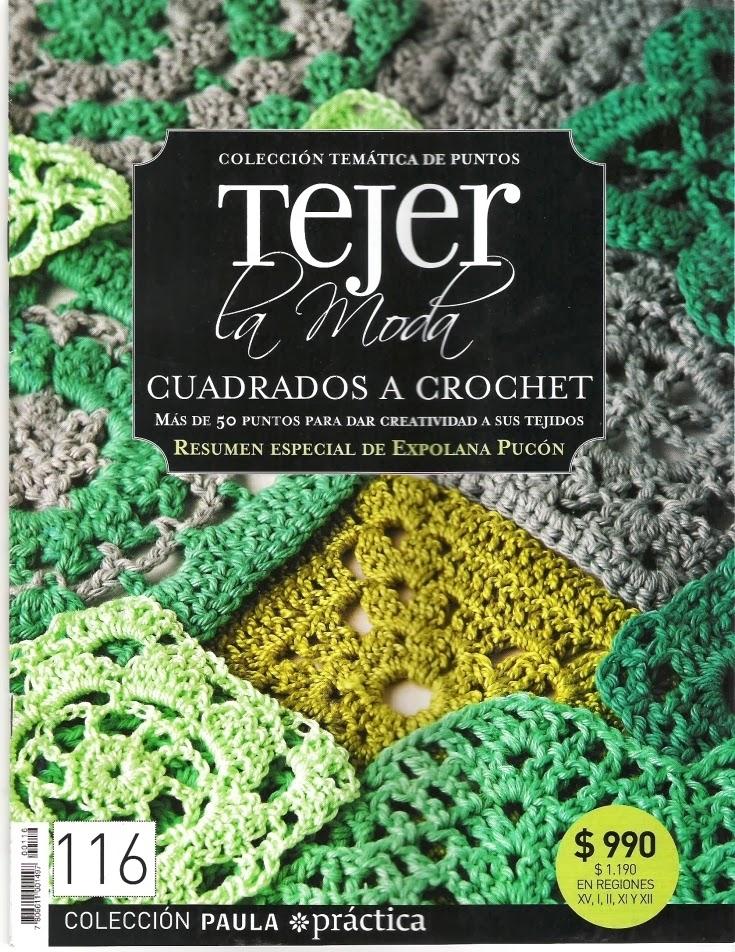 51 Patrones Cuadrados a Crochet. Revista