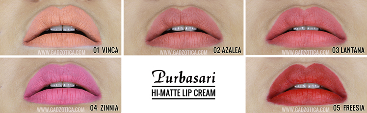 Purbasari Hi-Matte Lip Cream Review
