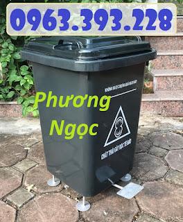 85bb1e47748f8fd1d69e - Thùng rác nhựa 60L đạp chân, thùng rác đạp chân 4 bánh xe