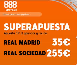 888sport superapuesta liga Real Madrid vs Real Sociedad 23 noviembre 2019