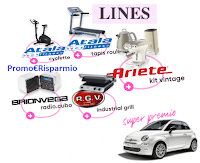 Logo Concorso '' Lines SiCura di te'': vinci FIAT 500, cyclette, voucher, kit Ariete e non solo