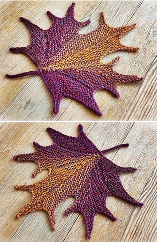 Decorative Knitted Maple Leaf - Knitting Pattern