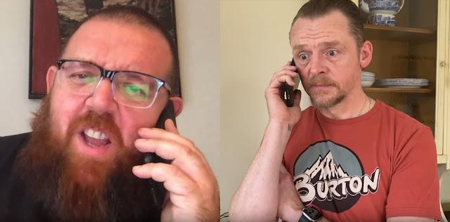 Nick Frost e Simon Pegg PSA