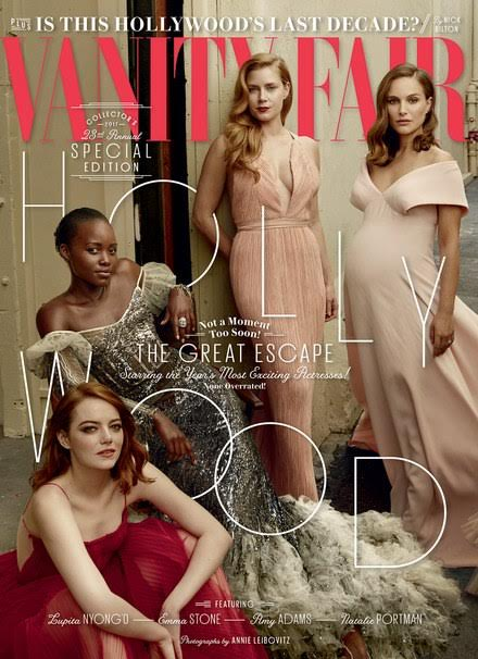 Lupita Nyong'o, Natalie Portman, Emma Stone, Janelle Monae and more actresses stun in Vanity Fair's 2017 Hollywood Issue
