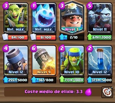 3 Mazo con Mortero  Clash Royale
