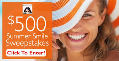 Enter the $500 Summer Smile Sweepstakes, ends 7/15. Open US/CA