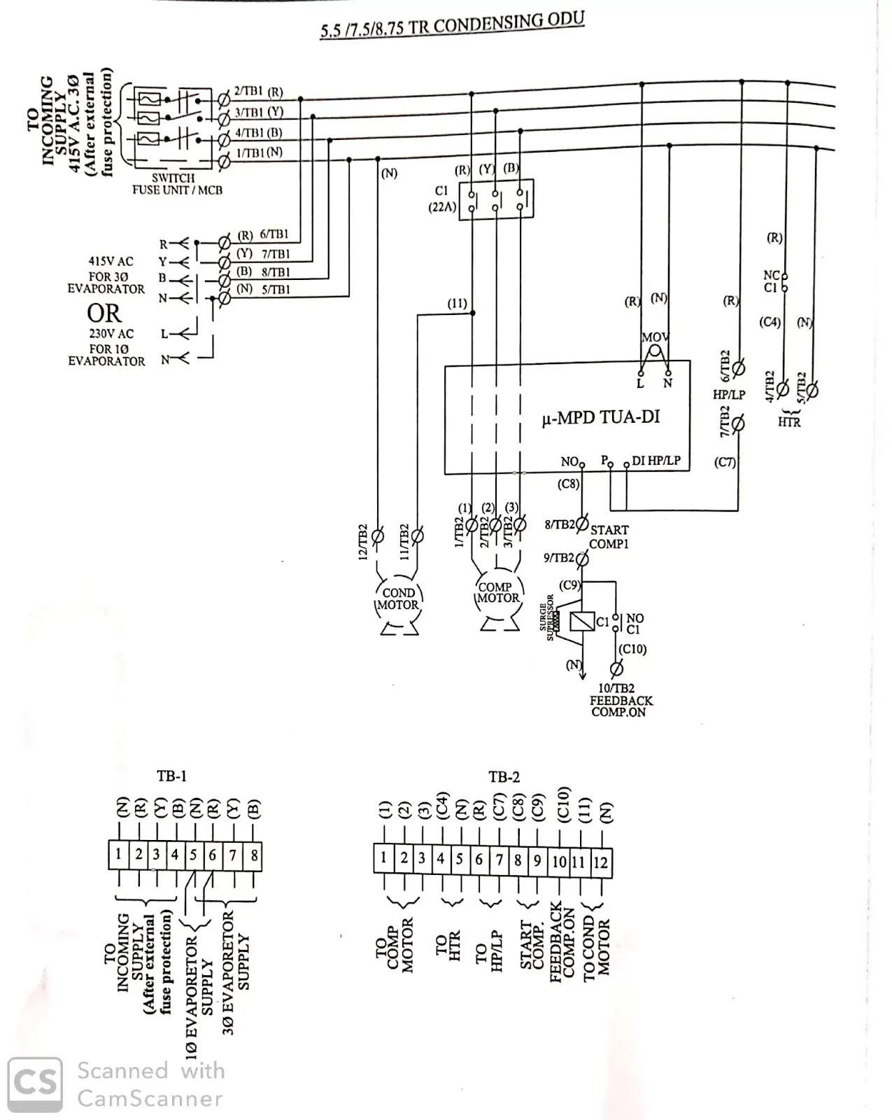 Voltas Ac Wiring Diagram Hvac Engineer