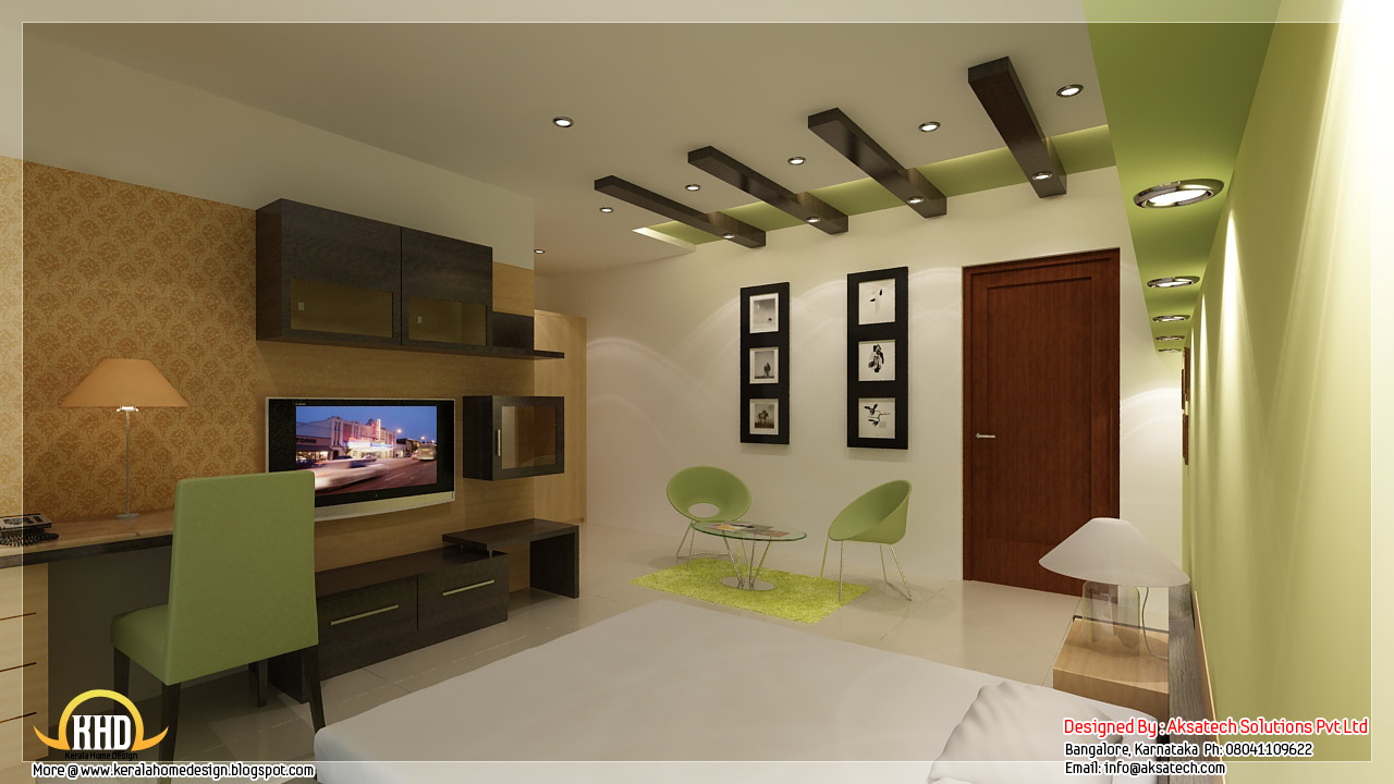 Beautiful contemporary home designs kerala home design for Interior decoration of house photos