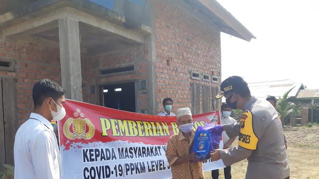 Peduli COVID-19, Polres Tebo Sebar 100 Paket Sembako