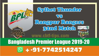 Who will win Today BPL T20, 32nd Match Rangpur vs Sylhet - Cricfrog