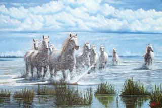 pintura tipica con caballos colombianos
