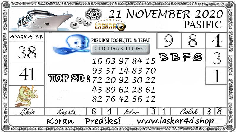 Prediksi Togel PASIFIC LASKAR4D 21 NOVEMBER 2020