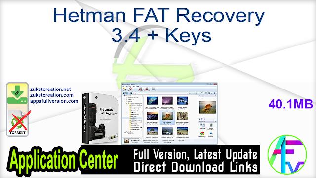 Hetman FAT Recovery 3.4 + Keys