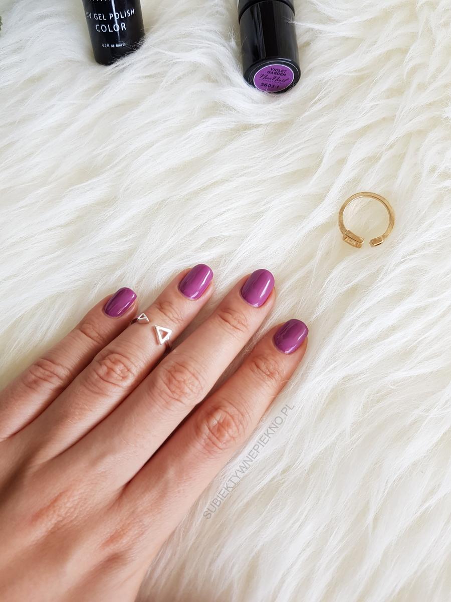 Lakier hybrydowy Violet Garden NeoNail 5603 z kolekcji Boho - swatche na paznokciach