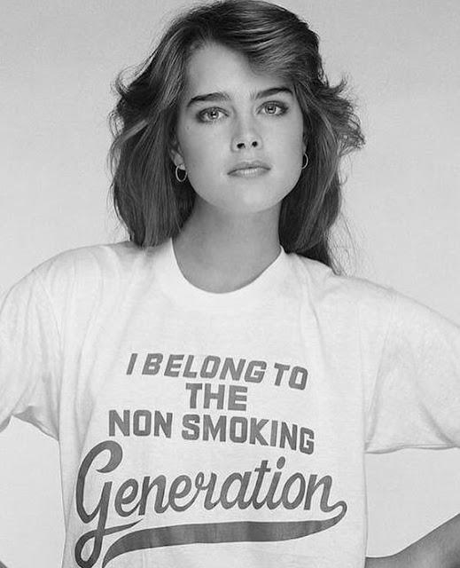 I Belong to the Non Smoking Generation shirt as worn by Brooke Shields.  PYGear.com