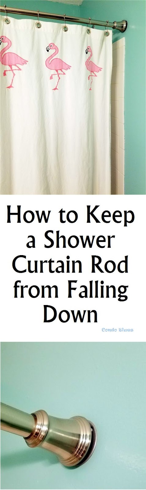 how to keep a bathroom shower curtain rod from falling