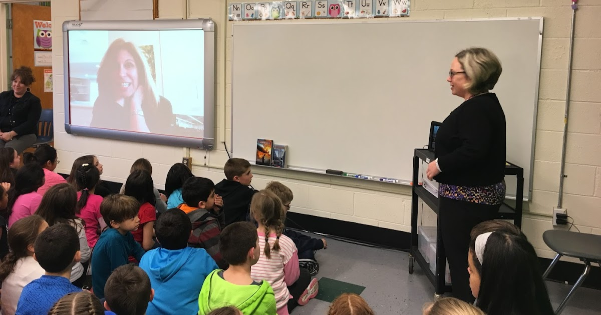 Day 130 - A Skype Call with Author Lauren Tarshis - Pine Glen Library and Technology Center