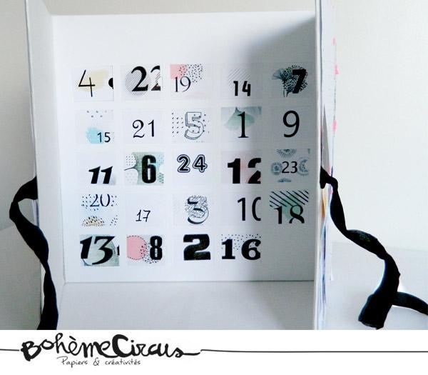 advent calendar - boheme circus - calendrier de l'avent - diy