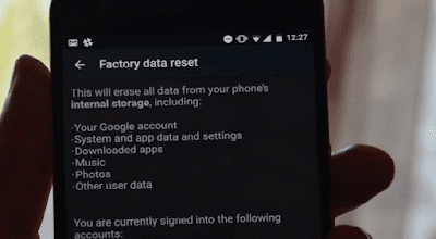 8 easy ways to Boost the Performance of your Android Smartphones and Tablets - Reset to Factory Settings