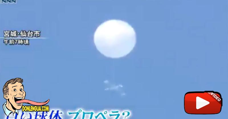 Un OVNI en forma de globo aparece en el cielo de Japón y desata la locura en las redes