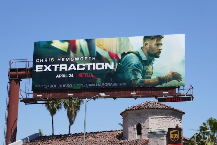 Extraction movie billboard
