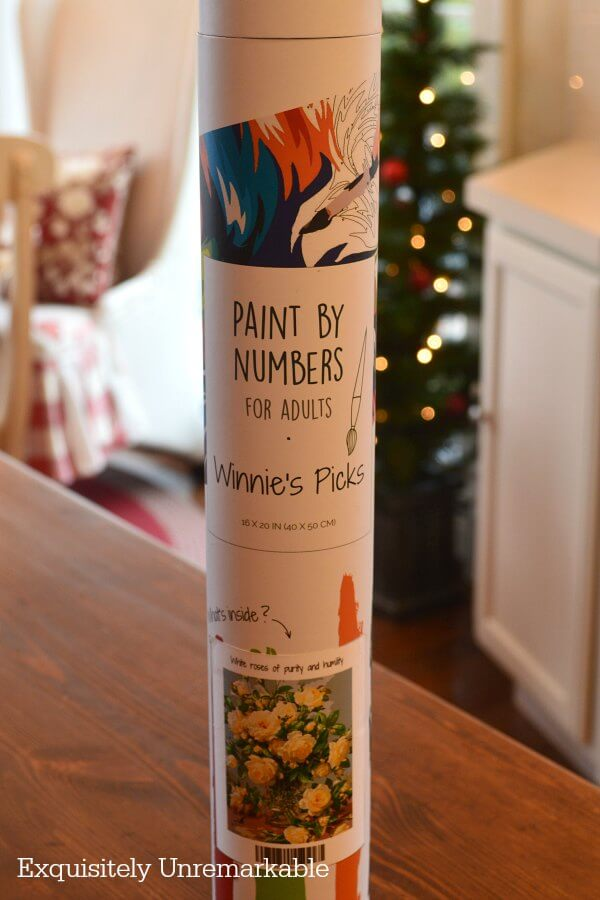 Winnie's Picks Paint By Numbers kit tube on table