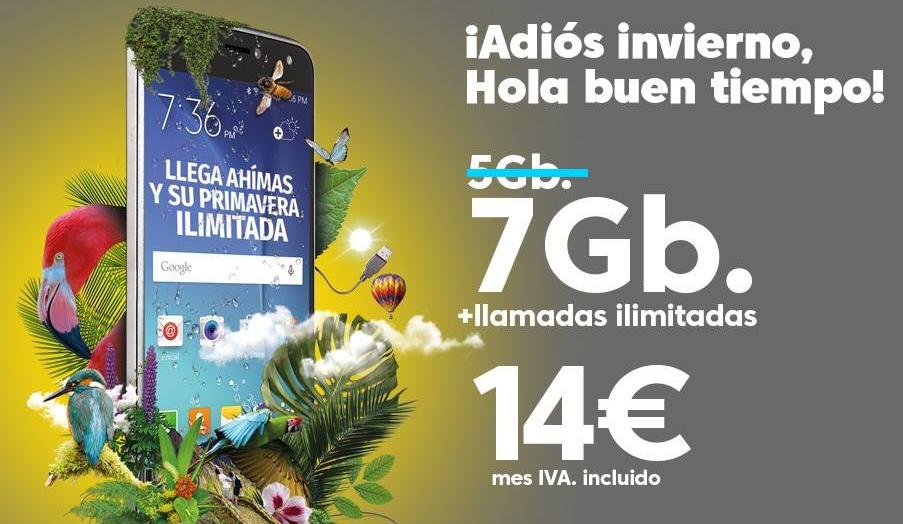 Ahí+ 7 GB tarifa