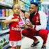 Flavour Shares Adorable Photos Of His Daughters Rocking Arsenal Jersey
