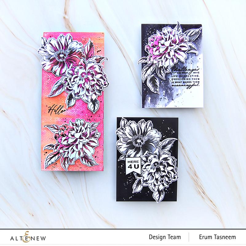 Altenew Vintage Garden Stamp Set | Erum Tasneem | @pr0digy0