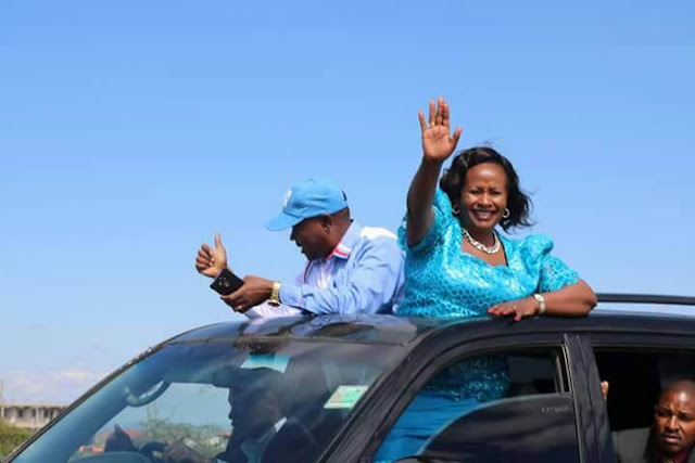 Wavinya Ndeti in Machakos roadshow. PHOTO  | Courtesy