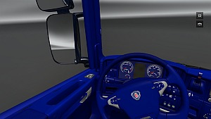 Scania Blue interior - ETS 2 Mods